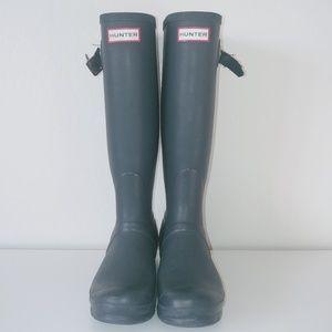 Hunter the Original Tall blue rain boots